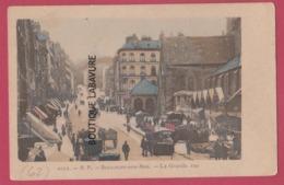 62 - BOULOGNE SUR MER---La Grande Rue--marché--animé---colorisée--précurseur - Boulogne Sur Mer