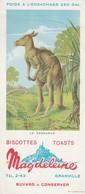 Rare Buvard Biscottes Magdeleine Le Kanguroo - Zwieback
