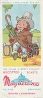 Rare Buvard Biscottes Magdeleine Bon Voyage Monsieur Dumollet - Biscottes