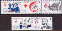 ISLE OF MAN 1989 SG 424-28 Compl.set Used Int.Red Cross - Isle Of Man