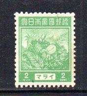 XP330 - OCCUPAZIONE GIAPPONESE Un Valore **  Nuovo - Ocupacion Japonesa