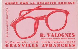Rare Buvard Opticien Valognes - Buvards, Protège-cahiers Illustrés