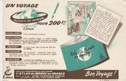 Rare Buvard Céma L'atlas Du Monde En Images - Produits Laitiers