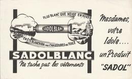 Rare Buvard Sadol Blanc - Produits Ménagers