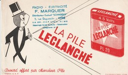 Rare Buvard La Pile Leclanché - Batterie