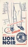 Rare Buvard Cirage Lion Noir - Produits Ménagers