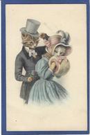 CPA MUNK MM VIENNE N° 797 Chat Cat Position Humaine Habillé écrite - Vienne