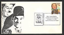 Etats Unis Cachet Commémoratif Laurel & Hardy Cinema 1990 Event Postmark United States US Movies - Cinema