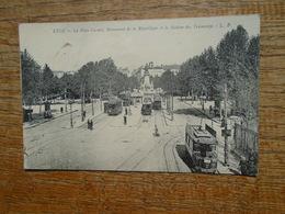 """Lyon , La Place Carnot , Monument De La République Et La Station Des Tramways """""""" Carte Animée Tramways """""""" - Otros"""