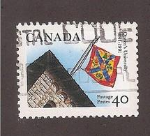 CANADA, 1991  USED # 1338, QUEENS UNIVERSITY   FLAG , KINGSTON ONTARIO - 1952-.... Règne D'Elizabeth II