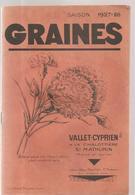 Catalogue Des Graines Des Etablissements Vallet Cyprien à La Chalotière à Saint Mathurin De 1927 - Petits Métiers