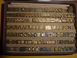 Lettres Et Chiffres En Bronze Pour Marquage à Chaud - Matériel Et Accessoires