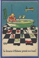 CPA échecs Playing Chess Non Circulé - Chess