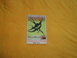 CARTE ANCIENNE DU TOURISTE DE LA SUISSE. / EDITEE PAR LE SERVICE DE PUBLICITE DES CHEMINS DE FER FEDERAUX. BERNE 1932. - Cartes