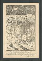 Oude Postkaart Pentekening  Joe English. Kerstnachtvisioen Aan Den IJzer - War 1914-18