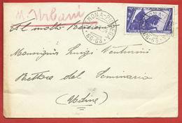LETTERA VG ITALIA - ORDINARIA - Decennale Marcia Su ROMA 50 Cent. Isolato - 10 X 15 - ANN. 1934 GEMONA PIOVEGA - 1900-44 Vittorio Emanuele III