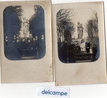 2  CARTES - PHOTOS -  LES TOURAILLES  (61)  Statue  Notre Dame De La Recouvrance - Lugares