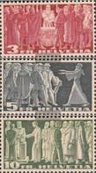 Schweiz 328v-330v (completa Edizione) Gray Libro Usato 1938 Francobolli - Switzerland