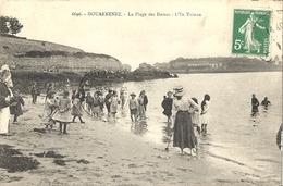 CPA Douarnenez La Plage Des Dames L'ile Tristan - Douarnenez