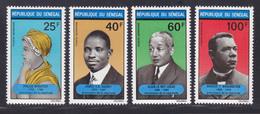 SENEGAL AERIENS N°  100 à 103 ** MNH Neufs Sans Charnière, TB (D7645) Précurseurs De La Négritude - 1971 - Senegal (1960-...)