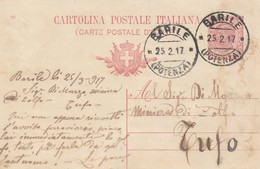 Barile. 1917. Annullo Guller BARILE (POTENZA),   Su Cartolina Postale Con Testo - 1900-44 Vittorio Emanuele III