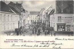Ninove - Le Marché Aux Légumes Un Mardi Matin. (1901) - Ninove