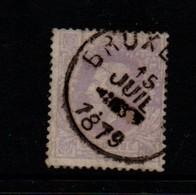 Belgium 1869 One Franc Mauve Spacefiller; Staple Hole; Possible Repairs - 1865-1866 Linksprofil