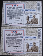 PTT/334 - 2010 - L'APPEL DU 18 JUIN 1940 - BLOC NEUF** N° F4493 ➤➤➤➤➤ 1 BLOC GRATUIT - Sheetlets