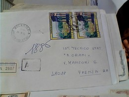 Storia Postale 1982 COPPIA TURISTICA TEMPLI DI AGRIGENTO 450 Lire RACCOMANDATA ISOLATO VB1982 GU3556 - 6. 1946-.. Repubblica