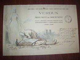 1914 - 1918 Oeuvre Du Souvenir Des Défenseurs De VERDUN ( Monument De Douaumont ) - Diplomi E Pagelle