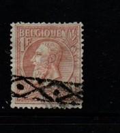 Belgium 1893 One Franc Red On Green  Possible Repairs - 1865-1866 Linksprofil