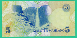 5 Maloti - Lesotho - 1989 - N° E866769 -   Neuf - Lesoto