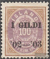 Iceland 34A Unmounted Mint / Never Hinged 1902 Print Edition - Prephilately