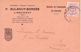 CP Publicitaire LIBRAMONT 1952  - F. SULBOUT-BORZEE - Imprimerie - Papeterie - Papeterie - Libramont-Chevigny