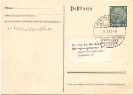 BERLIN STATIONERY 1937  (SET180067) - Agricoltura
