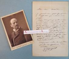 L.A.S + Photo Gustave JACQUET Peintre & Illustrateur élève De William Bouguereau - Lettre Autographe LAS - Autographes