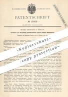 Original Patent - Moses Heimann , Berlin , 1881 , Durchbrochenes Papier Durch Walzendruck | Papierfabrik | Druck , Walze - Historische Dokumente