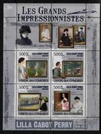 COMORES  Feuillet  ( 2009 )  * * Les Grands Impressionnistes Lilla Cabot Perry - Impressionisme
