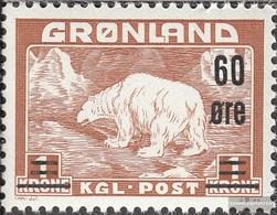 Dänemark - Grönland 38 MNH 1956 Polar Bear - Nuovi