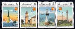 Bermuda 1997 Lighthouses, Hong Kong Overprints Set Of 4, MNH, SG 770/3, Ref. 16 - Lighthouses