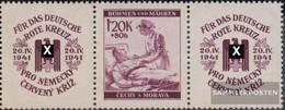 Bohemia And Moravia WZd15 Triple Strip Unmounted Mint / Never Hinged 1941 Red Cross - Bohemia & Moravia