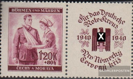 Bohemia And Moravia WZd5 With Zierfeld Unmounted Mint / Never Hinged 1940 Red Cross - Bohemia & Moravia
