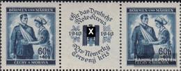 Bohemia And Moravia WZd2 Triple Strip Unmounted Mint / Never Hinged 1940 Red Cross - Bohemia & Moravia