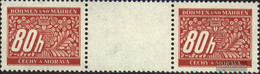Bohemia And Moravia P8 Between Steg Couple Unmounted Mint / Never Hinged 1939 Postage Stamps - Bohemia & Moravia