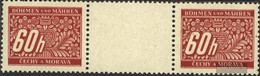Bohemia And Moravia P7 Between Steg Couple Unmounted Mint / Never Hinged 1943 Postage Stamps - Bohemia & Moravia