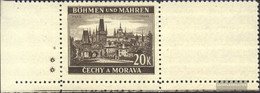 Bohemia And Moravia 61LW With Blank Unmounted Mint / Never Hinged 1940 Clear Brands - Bohemia & Moravia