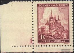 Bohemia And Moravia 28 With Plate Number Unmounted Mint / Never Hinged 1939 Prague - Bohemia & Moravia