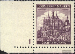 Bohemia And Moravia 27 With Plate Number Unmounted Mint / Never Hinged 1939 Ruttenberg - Bohemia & Moravia