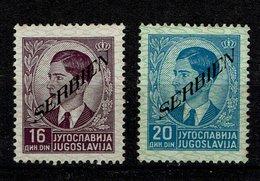 Serbien Michel Nr. 43 + 44 Postfrisch Mit Falz - Occupation 1938-45
