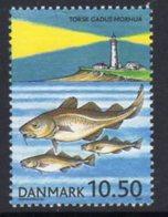Denmark 2002 Fishing Lighthouse 10kr. Value, MNH, Ref. 19 - Lighthouses